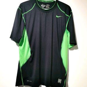 Nike DRI fit pro combat large shirt black & green